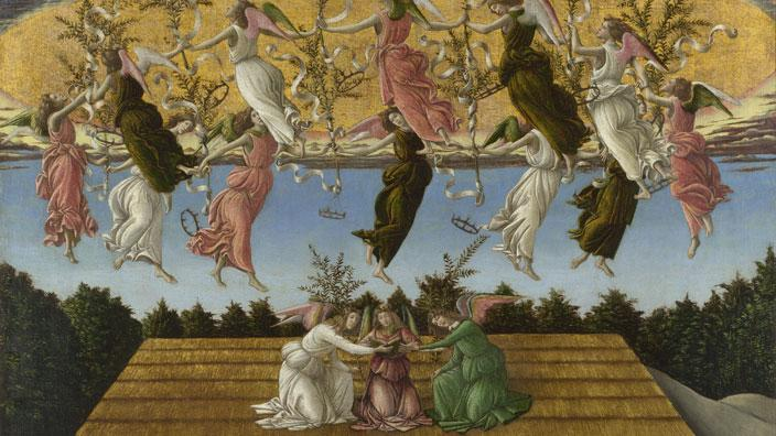 Angels from Botticelli's 'The Mystic Nativity'